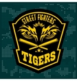 Fighting club emblem - tiger Eye Labels badges vector image