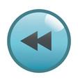 flat black rewind button icon vector image vector image