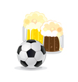 Football and beer vector image