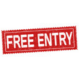 free entry ticket or coupon vector image vector image