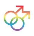 gay gender symbol sexual orientation degradient vector image vector image