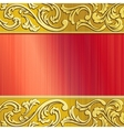 gold and red ornate banner vector image vector image