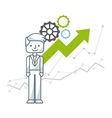 growth business funding line icons vector image