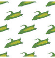 hand drawn corn seamless pattern background vector image vector image