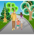 Happy Family walking in Park vector image vector image