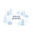 hello winter concept winter park vector image