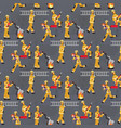 image pattern groups firefighters at work vector image vector image