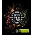 Laser tag with target vector image vector image
