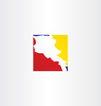 logo armenia map icon vector image vector image