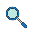 magnify glass police related icon editable vector image