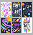 modern and trendy sale banners with discount and vector image vector image