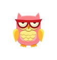 Moody Pink Owl vector image