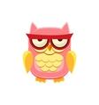 Moody Pink Owl vector image vector image
