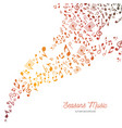 music background in autumn colors vector image vector image