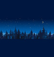 night spruce forest panorama vector image vector image