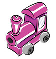 pink train on white background vector image vector image