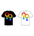 print for t-shirt with bright pride lgbt vector image vector image