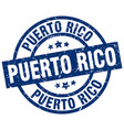 puerto rico blue round grunge stamp vector image vector image