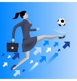Put the ball in the game business concept vector image
