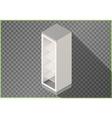 Refrigerator flat isometric fridge 3d vector image vector image