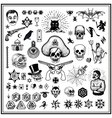 Russian criminal tatoos vector image vector image