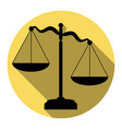 scales of justice sign flat black icon vector image vector image