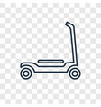 scooter toy concept linear icon isolated on vector image vector image