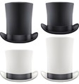 Set of big gentleman hat cylinder vector image vector image