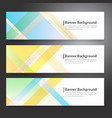 set of horizon abstract colorful banner vector image vector image