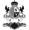 set of ornamental heraldic elements vector image