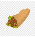 Shawarma cartoon sign vector image vector image