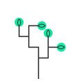 simple schematic tree icon vector image