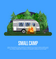 Small camp poster with travel trailer