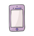 smart phone color doodle icon hand drawn sketch vector image