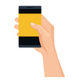 smartphone device with hand human vector image