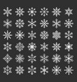 snowflakes silhouette vector image vector image