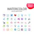 social media symbols watercolor ico vector image