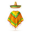 sombrero mexican hat mustache cinco de mayo vector image