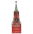 spasskaya tower isolated vector image