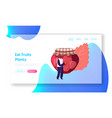 strawberry jam website landing page young tiny vector image vector image