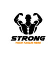 strong fitness logo designs vector image