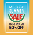 summer sale design template of advertising vector image vector image