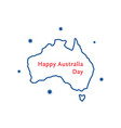 thin line happy australia day vector image vector image