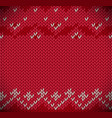 traditional fair isle style knitted vector image vector image