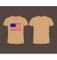 USA flag t-shirt vector image vector image