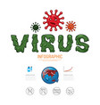 virus corona covid19 19 infographic design protect vector image vector image