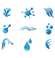 Water elements icons vector | Price: 1 Credit (USD $1)