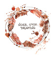 Watercolor with bird feathers vector image vector image