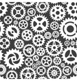 white gears on grey seamless pattern vector image vector image