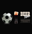sport and beer template banner photo-realistic vector image